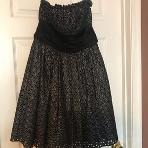 Strapless Betsy Johnson dress